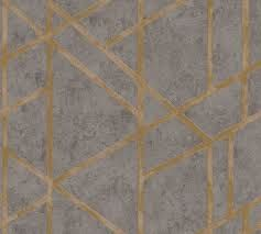 Geometric Grey & Gold