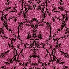 Baroque Scroll - Hot Pink