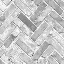 Herringbone Brick Grey