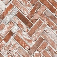 Herringbone Brick Red