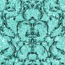Baroque Scroll - Hot Teal
